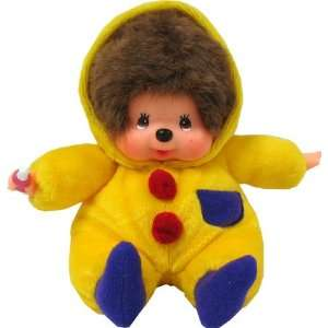 Monchhichi Boy In Yellow Jump Suit Plush Doll: Toys & Games