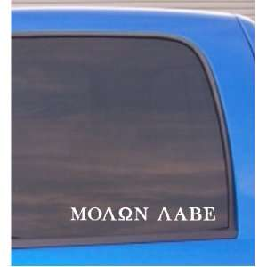 Molon Labe (COME AND TAKE THEM!) vinyl decal sticker WHITE