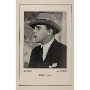 1927 Silent Film Star Bobby Vernon Christie Comedies