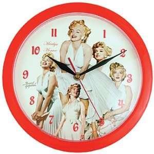 Marilyn Monroe Bernard of Hollywood Red Wall Clock