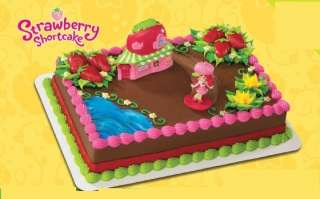 STRAWBERRY SHORTCAKE CAFE CAKE TOPPER birthday supplies |