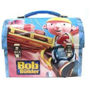 Bob the Builder Dome Metal Blue Tin Lunch Box Office