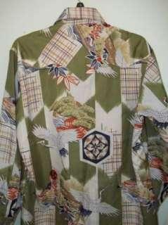 Vintage Pearl Snap Polyester Western Shirt Rockabilly L