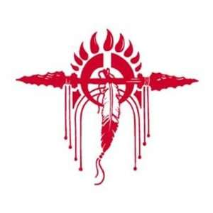 Red TRIBAL GOOD HUNTING Vinyl Sticker/Decal (Indian)