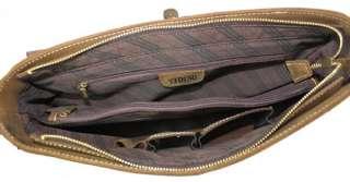 Mens Vintage Bull Real Leather Briefcase Messenger Bag