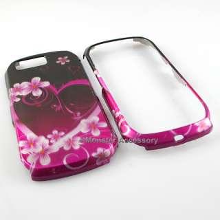 PINK Heart Hard Snap On Cover Skin Case Motorola i1