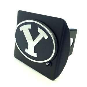 Young Cougars Premium Black Metal Hitch Cover Chrome Metal Emblem
