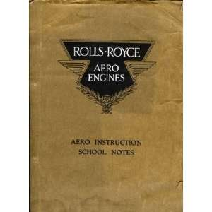 Rolls Royce Merlin Aircraft Engine School Notes Manual