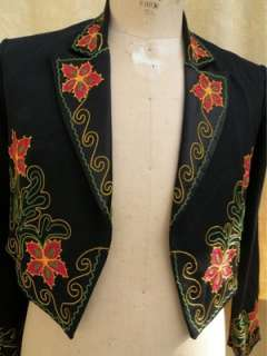 Bar C Western Cowboy Style Mariachi style Jacket Black & multi color