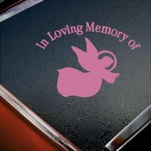 In Loving Memory Angel Pink Decal Truck Window Pink