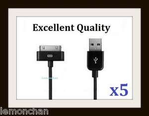 BLACK USB DATA SYNC CHARGER CABLE CORD FOR IPOD IPHONE 3G 4G 4S