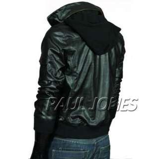 Motorcycle Leather Jacket Top slim designed Hoodie Casual Coats PUNK
