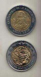 MEXICO BIMETALLIC COIN 5 PESOS FRANCISCO I. MADERO 2010