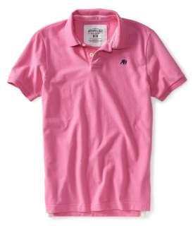 Aeropostale mens solid uniform logo polo shirt   Style 3000