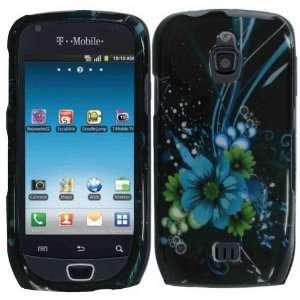 Blue Flower Hard Case Cover for Samsung Exhibit 4G T759
