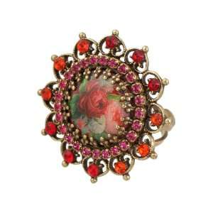 Handmade Vintage Inspired Michal Negrin Roses Ring with a