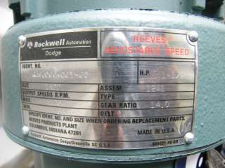 Reeves 1a2D Variable Speed Drive 2 HP 3ph 208230v EX Proof Motor 33
