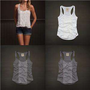 Hollister by Abercrombie Women North Jetty Tank Cami Top Tee T Shirt
