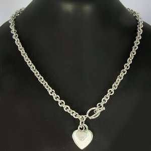 54.30 Grams 20 Inch 925 Sterling Silver Heart Charm