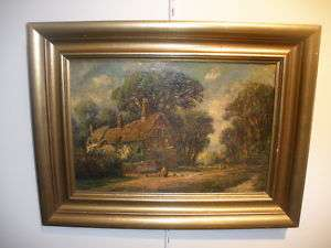 LISTED FREDERICK LEO HUNTER ANTIQUE PAINTING LANDSCAPE