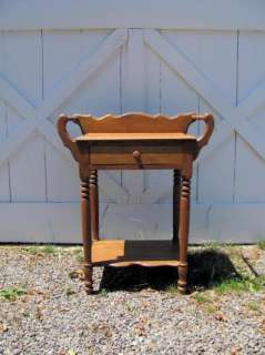 Antique Oak Wash Stand w/ drawer and towel bars