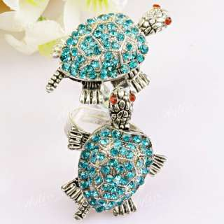 Beautiful Crystal Glass Adjustable Finger Ring 1 Piece.Very exquisite