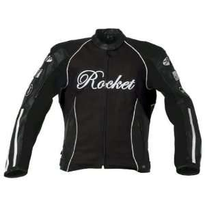 JOE ROCKET JET SET LEATHER JACKET LADIES BLACK/BLACK 2XL