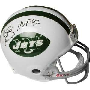 John Riggins Autographed New York Jets Pro Line Helmet with HOF