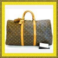 Louis Vuitton Monogram Duffle/Gym bag Keepall 50 AUTH