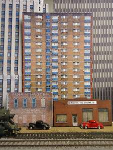 HO scale Large apartment building background flat HO scale FREE