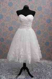 Hot sale short pretty white Wedding bridal Dress lace up sweetheart