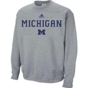 Michigan Wolverines Adidas Sideline Grey Crewneck