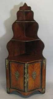 Louis XV Gilt Bronze & Kingwood 34 Corner Cabinet c. 1860 |