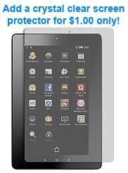 For Kobo Vox Tablet eReader Purple GENUINE LEATHER Case Cover