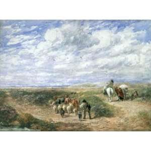 David Cox   24 x 18 inches   Keep The Left Road