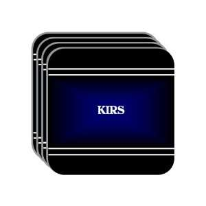 Personal Name Gift   KIRS Set of 4 Mini Mousepad Coasters (black