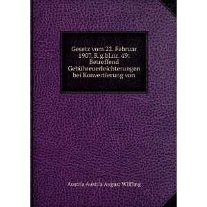 bei Konvertierung von Austria Austria August Wilfling Books