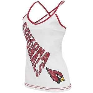 Reebok Arizona Cardinals Ladies White Cheer Tank Top