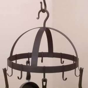 Pot Racks Black Wrought Iron, 17 1/2 in diameter x 12 high