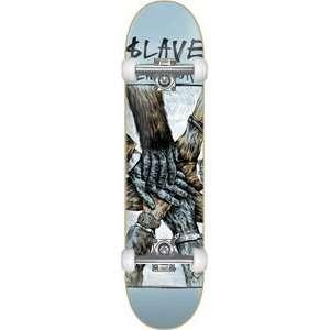 Slave Teamwork Complete Skateboard   8.12 Blue w/Raw Trucks & Wheels