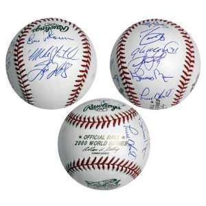 2000 New York Yankees Team Signed World Series Baseball