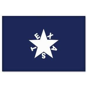 Texas De Zavala Flag car bumper sticker window decal 5 x