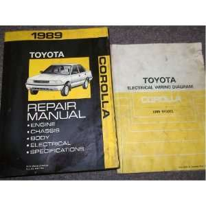 1989 Toyota Corolla Service Repair Shop Manual SET OEM