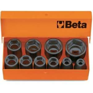 Beta 728/C10 3/4 Drive Impact Socket Set, 10 Pieces ranging from 17mm