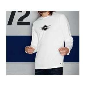 MINI Cooper Mens Logo Long Sleeve White T Shirt XXL (European Sizing)