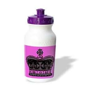 Black Crown on A Pink Background   Water Bottles Sports & Outdoors
