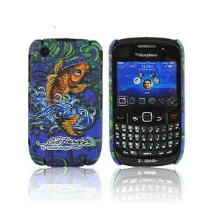 Ed Hardy Blackberry Curve 8530 8520 Cover Case Koi Fish Electronics