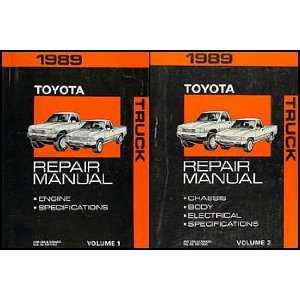 Toyota Pickup Truck Repair Shop Manual Original Set: Toyota: Books