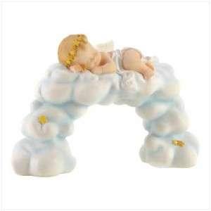 BABY Cherub/ANGEL Sleeping on Clouds STATUE/Figurine