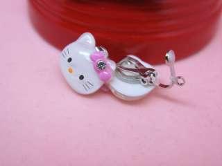 Kids Very Lovely Hello Kitty Head Clip On Earrings